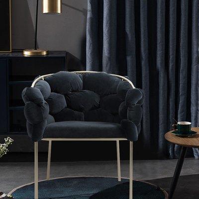 懶人沙發北歐輕奢梳妝椅化妝椅休閑靠背簡約餐廳椅子后現代創意設計師餐椅