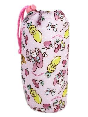 【卡漫迷】 美樂蒂 水壺 保溫袋 水果 動物  ㊣版 保溫 保冷 水杯袋 隨手杯袋 My Melody 三麗鷗 兔子