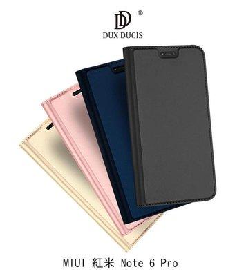 *Phone寶*DUX DUCIS MIUI 紅米 Note 6 Pro 奢華簡約側翻皮套 可站立 可插卡 保護套