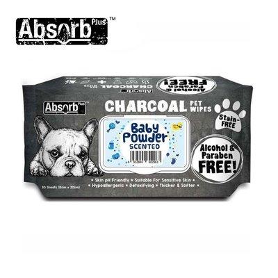 SNOW的家【訂購】Absorb Plus 寵物用活性碳濕紙巾 6種香味-爽身粉香 (11090043