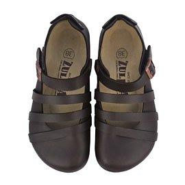 【ZULIBA熱銷款】女足跡三條帶素面全包鞋(36~39)-咖啡