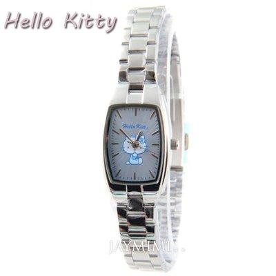 【JAYMIMI傑米】HELLO KITTY 三麗鷗 夢幻凱蒂貓花系列手腕錶  藍色 保固 公司貨 免運費