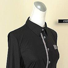 貞新 oreesj 品牌 黑色V領長袖棉質上衣S號+WEALTH HONOR 山形屋 黑色格紋棉質短F號(40762)