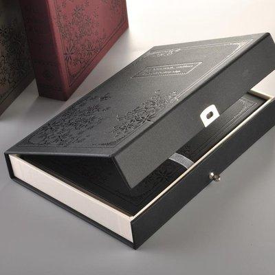 希望帶鎖日記本密碼大號盒裝男女用復古古典加厚彩頁筆記本送禮物