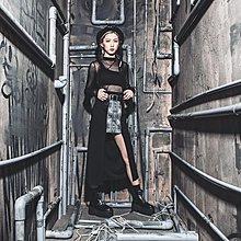 美國東村【SLIGHTLY NUMB】POPPY DAY SKIRT 不規則 窄版 素 蛇紋 長裙