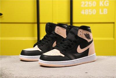 NIKE Air Jordan 1 High OG AJ1 黑 粉紅 荔枝紋 籃球鞋 555088-081