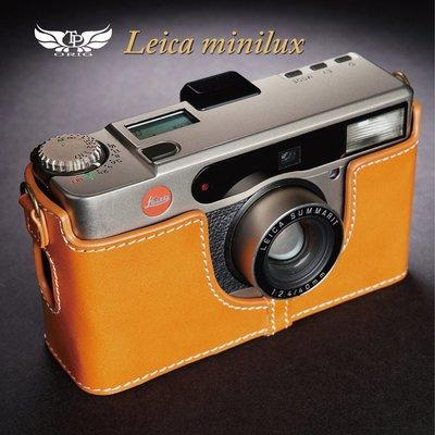 小馨小舖【TP Leica Minilux / minilux zoom真皮相機底座】相機皮套 相機包