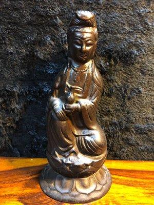 『華山堂』古董文物 早期收藏 老銅件 日式觀音相  觀音菩薩 觀世音菩薩 落款 大明宣德 老件銅器